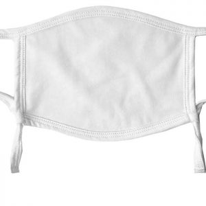 White Printed PPE Facemaks - Washable and Adjustable