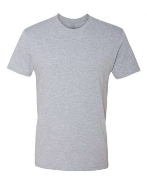 Print on Heather Grey Next Level - Cotton Short Sleeve Crew