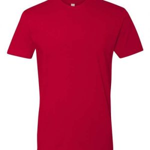 Print on Red Next Level - Cotton Short Sleeve Crew
