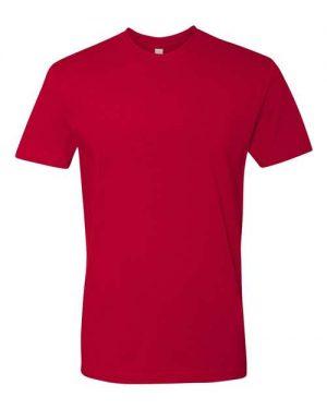 Print on Red Next Level - Cotton Short Sleeve Crew